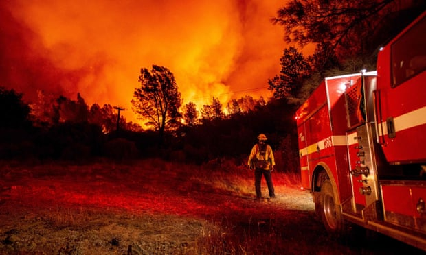 Nearly 100 wildfires burn across US west with major fires out of control in California