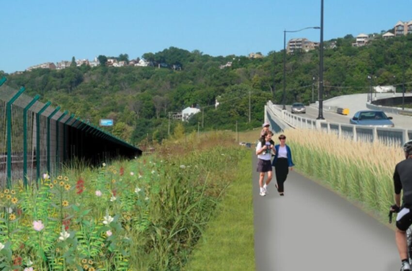 Cincinnati opens new stretch of West Side bike trail.